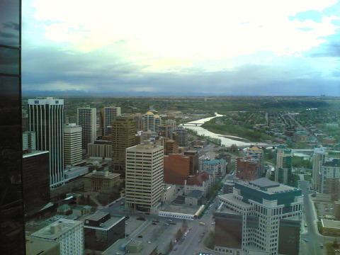 """Calgary as seen by my Nokia 6630"""