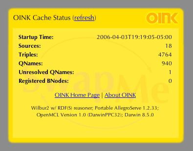 OINK Status Dashboard Widget